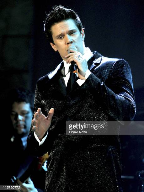David Miller of Il Divo during Il Divo in Concert at Wembley Arena in London April 12 2006 at Wembley Arena in London Great Britain