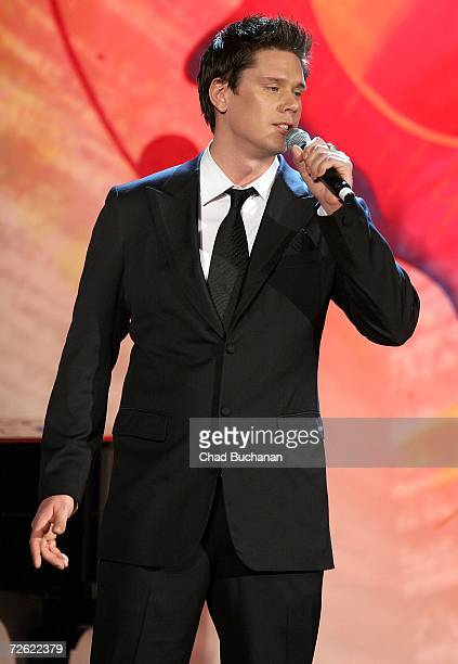 David Miller of Il Divo performs at evening with Larry King & friends charity fundraiser at the Beverly Hilton on November 21, 2006 in Beverly Hills,...