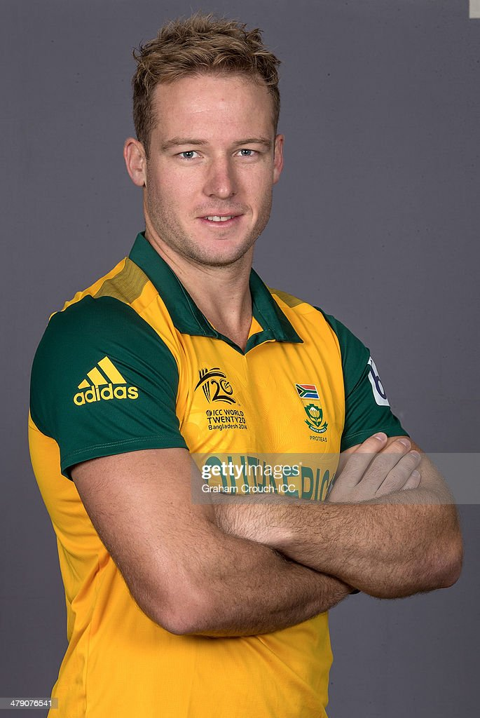 David Miller of South Africa at the headshot session at the Pan Pacific Hotel, Dhaka in the lead up to the ICC World Twenty20 Bangladesh 2014 on March 16, 2014 in Dhaka, Bangladesh.