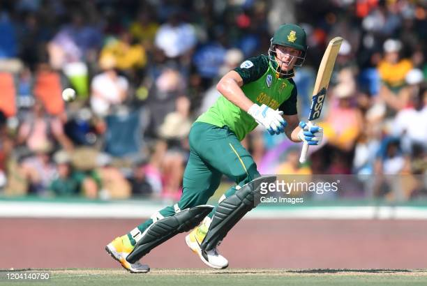 David Miller of South Africa during the 1st ODI match between South Africa and Australia at Eurolux Boland Park on February 29, 2020 in Paarl, South...
