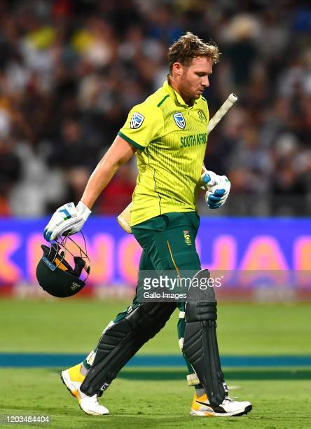 David Miller of South Africa during the 3rd KFC T20 International match between South Africa and Australia at Newlands Cricket Stadium on February...