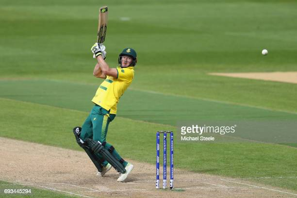 David Miller of South Africa during the ICC Champions Trophy match between Pakistan and South Africa at Edgbaston on June 7 2017 in Birmingham England