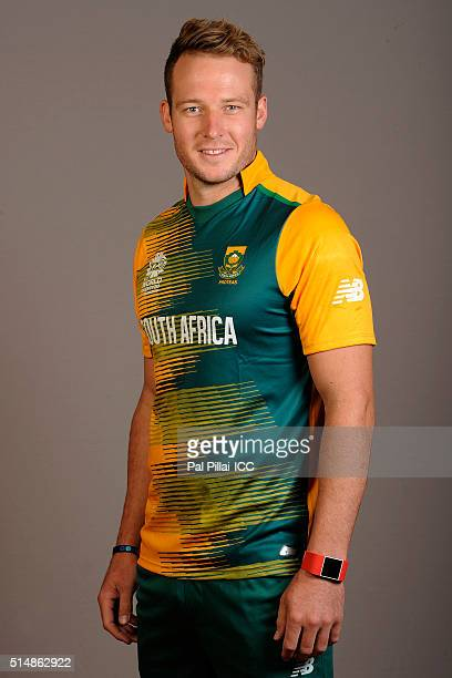 David Miller of South Africa poses during the official photocall for the ICC Twenty20 World on March 11 2016 in Mumbai India