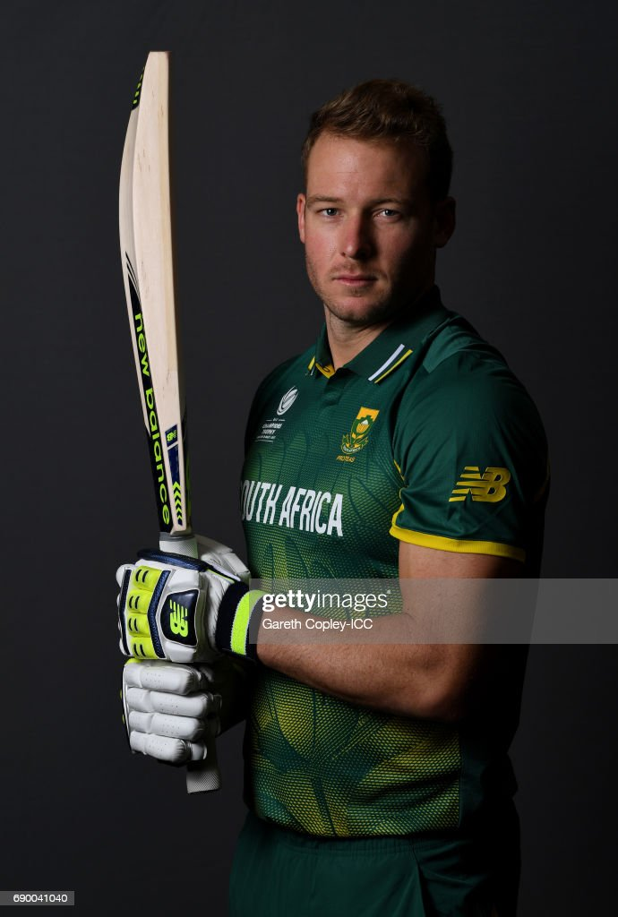 David Miller of South Africa poses for a portrait at Royal Garden Hotel on May 30, 2017 in London, England.