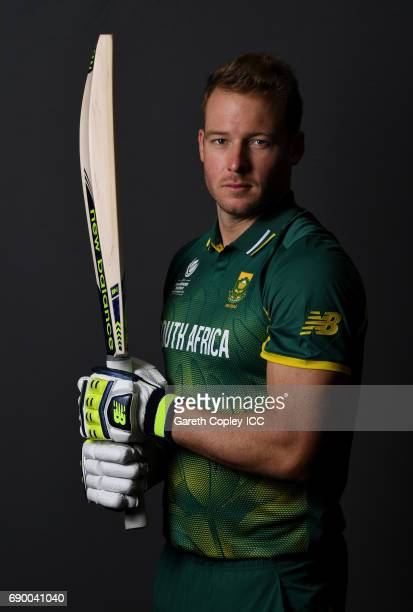 David Miller of South Africa poses for a portrait at Royal Garden Hotel on May 30 2017 in London England