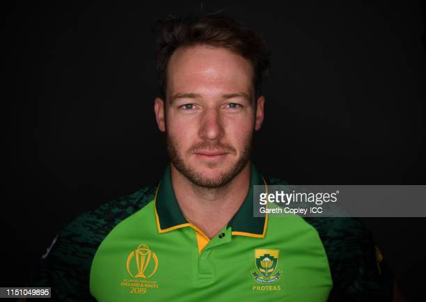 David Miller of South Africa poses for a portrait prior to the ICC Cricket World Cup 2019 at on May 22, 2019 in Cardiff, Wales.