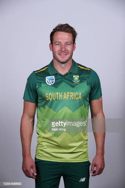 David Miller poses during the South Africa ODI / T20 headshots session on October 30, 2018 in Canberra, Australia.