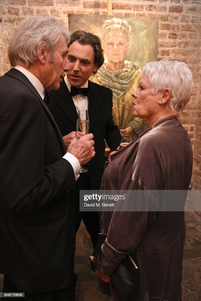 David Mills, Alexander Newley and Dame Judi Dench attend the St ...