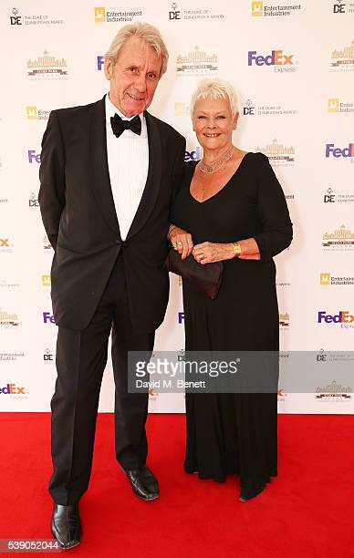 David Mills and Dame Judi Dench attend the Duke of Edinburgh Award 60th Anniversary Diamonds are Forever Gala at Stoke Park on June 9 2016 in...