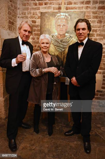David Mills Dame Judi Dench and Alexander Newley attend the St MartinintheFields Gala Dinner and auction of Alexander Newley portraits on March 8...
