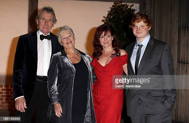 David Mills, Dame Judi Dench, Finty Williams and Sammy Williams attends as Zoe Wanamaker hosts a Gala Dinner at Shakespeare's Globe on October 17,...