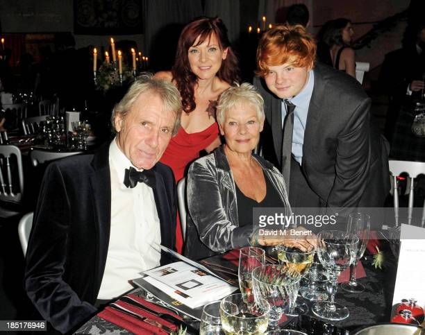 David Mills, Finty Williams, Dame Judi Dench and Sam Williams attend the Shakespeare's Globe Gala Dinner hosted by Zoe Wanamaker on October 17, 2013...