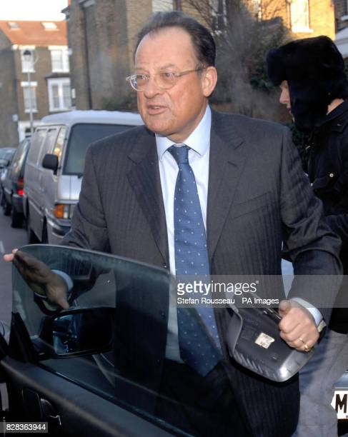 David Mills husband of Culture Secretary Tessa Jowell leaves his home in north LondonThursday March 2 holding part of his wing mirror which he...