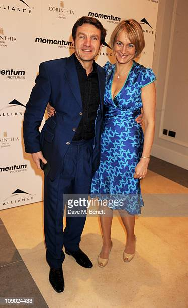 David Minchin and journalist Louise Minchin attend Momentum Pictures' preBAFTA lunch at the Corinthia Hotel London on February 12 2011 in London...