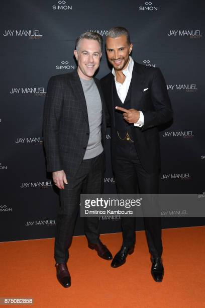 David Miskin and Jay Manuel attend Jay Manuel Beauty Grand Opening at Roosevelt Field Mall on November 16 2017 in Garden City City