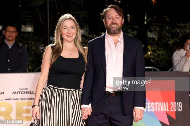 David Mitchell and his wife Victoria Coren Mitchell attend the Greed European Premiere during the 63rd BFI London Film Festival at the Odeon Luxe...