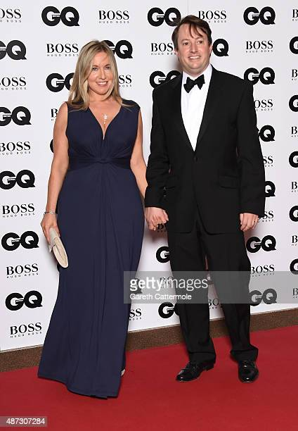 David Mitchell and Victoria Coren attends the GQ Men Of The Year Awards at The Royal Opera House on September 8 2015 in London England