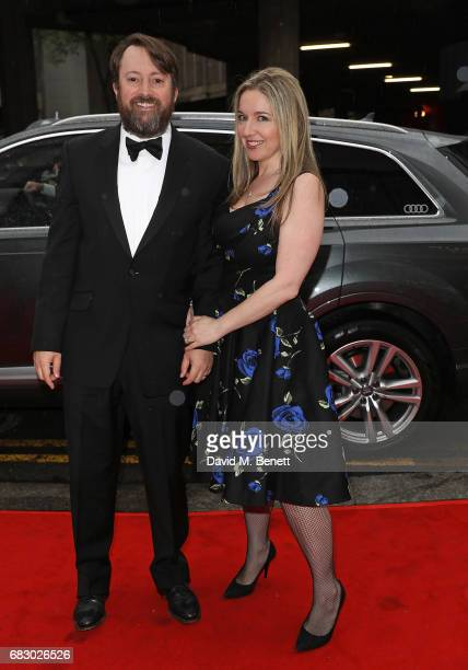 David Mitchell and Victoria Coren Mitchell arrive in an Audi at the BAFTA TV on Sunday 14 May 2017 on May 14 2017 in London United Kingdom