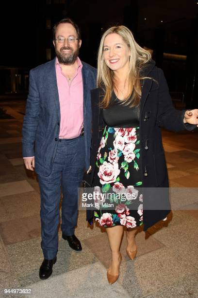 David Mitchell and Victoria Coren Mitchell at the launch night of Soho House Television Centre on April 11 2018 in London England