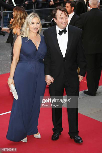 David Mitchell and Victoria Coren Mitchell attend the GQ Men Of The Year Awards at The Royal Opera House on September 8 2015 in London England