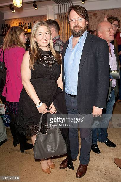 David Mitchell and Victoria Coren Mitchell attend the press night performance of The Boys In The Band at The Park Theatre on October 4 2016 in London...