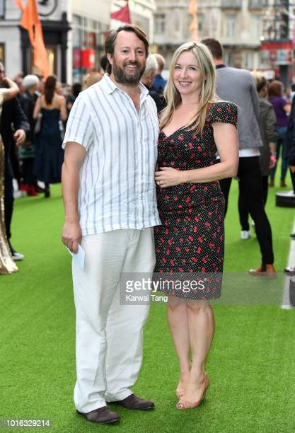 David Mitchell and Victoria Coren Mitchell attend the World Premiere of 'The Festival' at Cineworld Leicester Square on August 13 2018 in London...