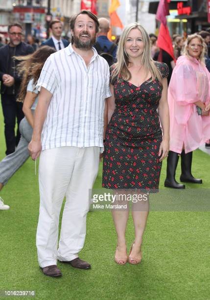 David Mitchell and Victoria Coren Mitchell attends the World Premiere of 'The Festival' at Cineworld Leicester Square on August 13 2018 in London...