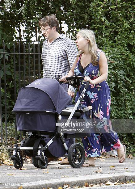 David Mitchell and wife Victoria Coren Mitchell taking a stroll on September 12 2015 in London England