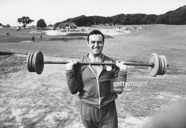 David Mitchell of the Gwynedd Constabulary a member of the Colwyn Bay KnockOut team lifting weights as he practices for his appearance on the...