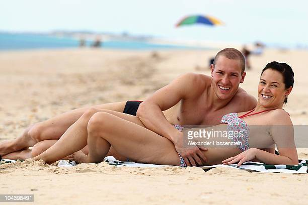 David Moeller poses with Caroline Oehlschlaeger during the 'Champion des Jahres' event week at the Robinson Club Quinta da Ria on September 24 2010...