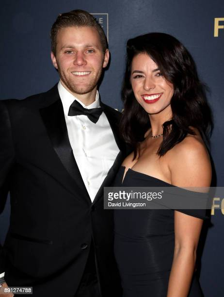 David Monhait and Bri Lobato attend FORAY Collective and The Black Tux Host Holiday Gala on December 12 2017 in Los Angeles California