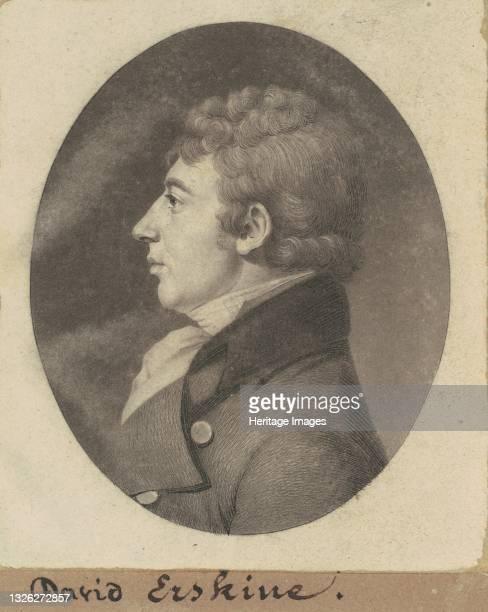 David Montagu Erskine, 1799. Artist Charles Balthazar Julien Févret de Saint-Mémin.
