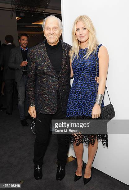 David Montgomery and Marissa Montgomery attend the private view of Monuments by Fabien Baron hosted by Montcler at Sotheby's on October 14 2014 in...