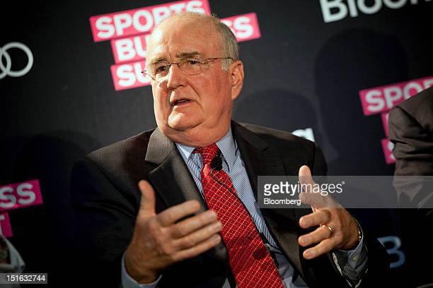 David Montgomery general partner president and chief executive officer of the Philadelphia Phillies speaks at the Bloomberg Sports Business Summit in...