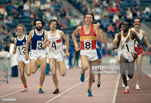 David Moorcroft of Great Britain wins the Emsley Carr Mile during the British Games at Crystal Palace in London on 30th August 1976