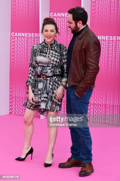 David Mora and AnneElisabeth Blateau attend the Launch of the Official Competition and 'The Truth About The Harry Quebert Affair' screening during...