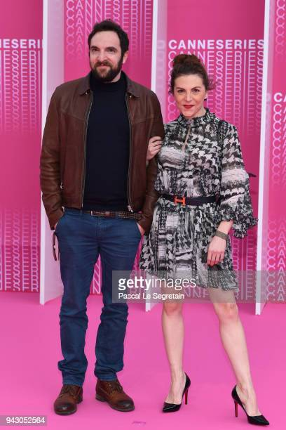 David Mora and AnneElisabeth Blateau from the serie 'Scene de Menage' attend the Launch of the Official Competition and 'The Truth About The Harry...
