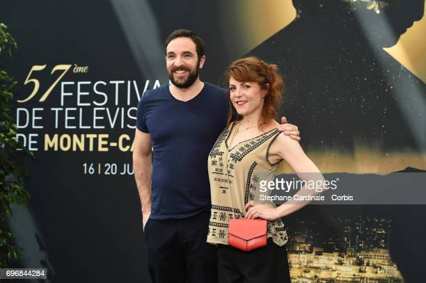 David Mora and AnneElisabeth Blateau from TV Show 'Scenes de Menages' pose for a Photocall during the 57th Monte Carlo TV Festival Day Two on June 17...
