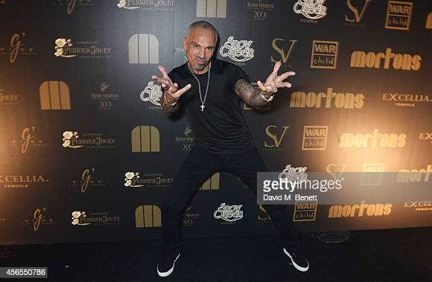 David Morales attends the 10th anniversary of Mortons in Berkeley Square Gardens on October 2 2014 in London England