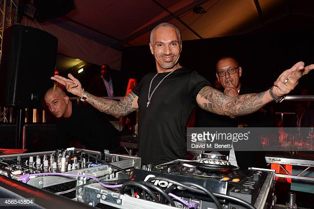 David Morales DJ's at the 10th anniversary of Mortons in Berkeley Square Gardens on October 2 2014 in London England