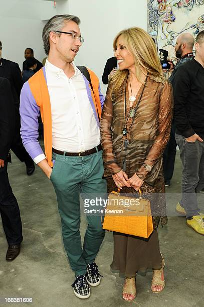 David Morehouse and Rosette Delug attend the Takashi Murakami Private Preview at Blum Poe on April 11 2013 in Los Angeles California