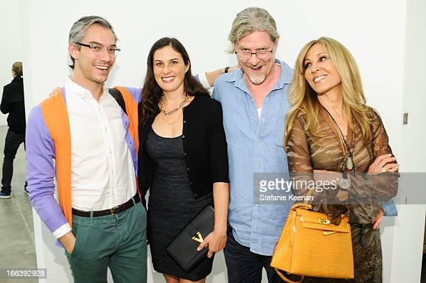 David Morehouse Jennifer Guidi Mark Grotjahn and Rosette Delug attend Takashi Murakami Private Preview And Dinner At Blum Poe on April 11 2013 in Los...