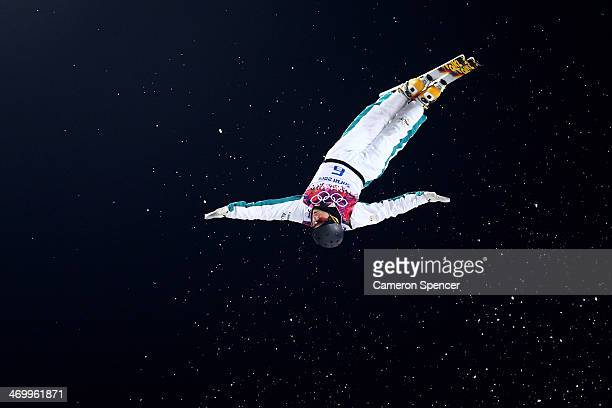 David Morris of Australia competes in the Freestyle Skiing Men's Aerials Finals on day ten of the 2014 Winter Olympics at Rosa Khutor Extreme Park on...