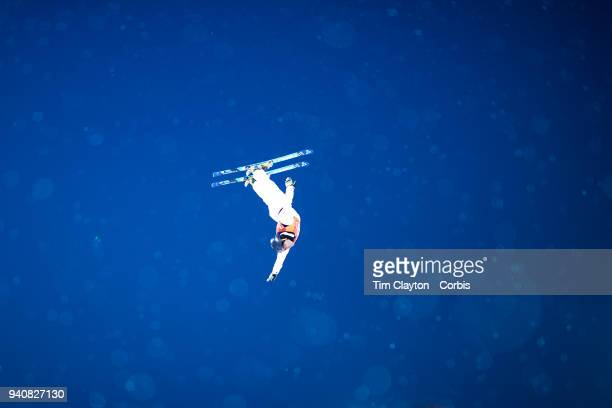David Morris of Australia in action during the Freestyle Skiing Men's Aerials Final at Phoenix Snow Park on February 18 2018 in PyeongChang South...