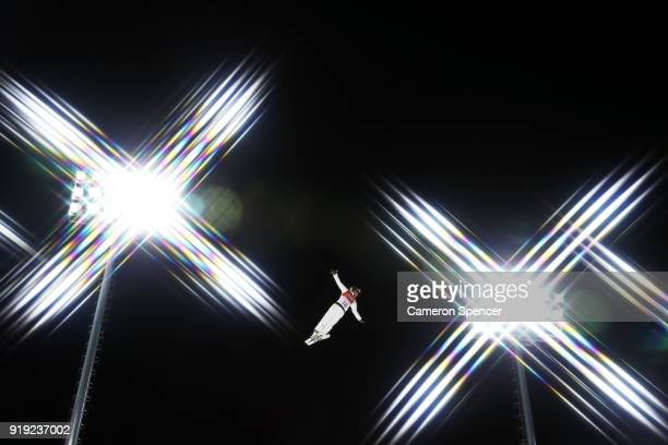 David Morris of Australia trains prior to the Freestyle Skiing Men's Aerials Qualification on day eight of the PyeongChang 2018 Winter Olympic Games...