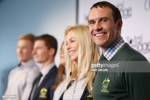 David Morris poses during the Australian Olympic Committee 2018 Winter Olympic Games uniform launch at Barangaroo on October 20 2017 in Sydney...