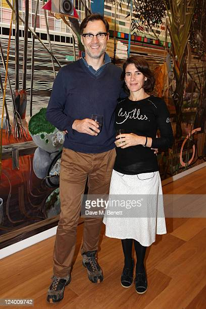 David Morrissey and Esther Freud attend the debut screening of a short film collaboration between Bella Freud and director Martina Amati at Max...