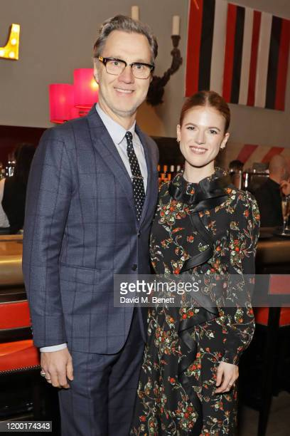 David Morrissey and Rose Leslie attend The Casting Awards 2020 at The Ham Yard Hotel on February 11 2020 in London England