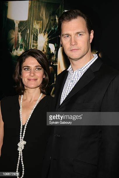 David Morrissey and wife Esther during The Cinema Society and Dior Beauty presented MGM Pictures and Sony Pictures World Premiere of Basic Instinct 2...