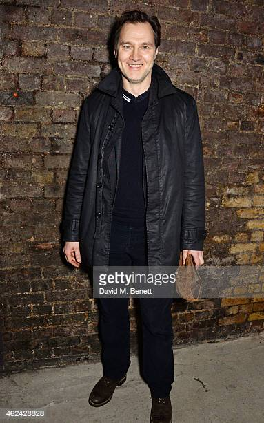 David Morrissey attends an after party following the Gala Performance of The Ruling Class at The Bankside Vaults on January 28 2015 in London England